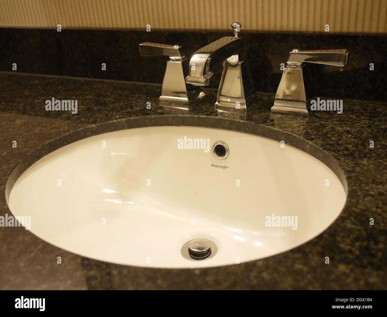 hotel hand wash sink - Stock Image