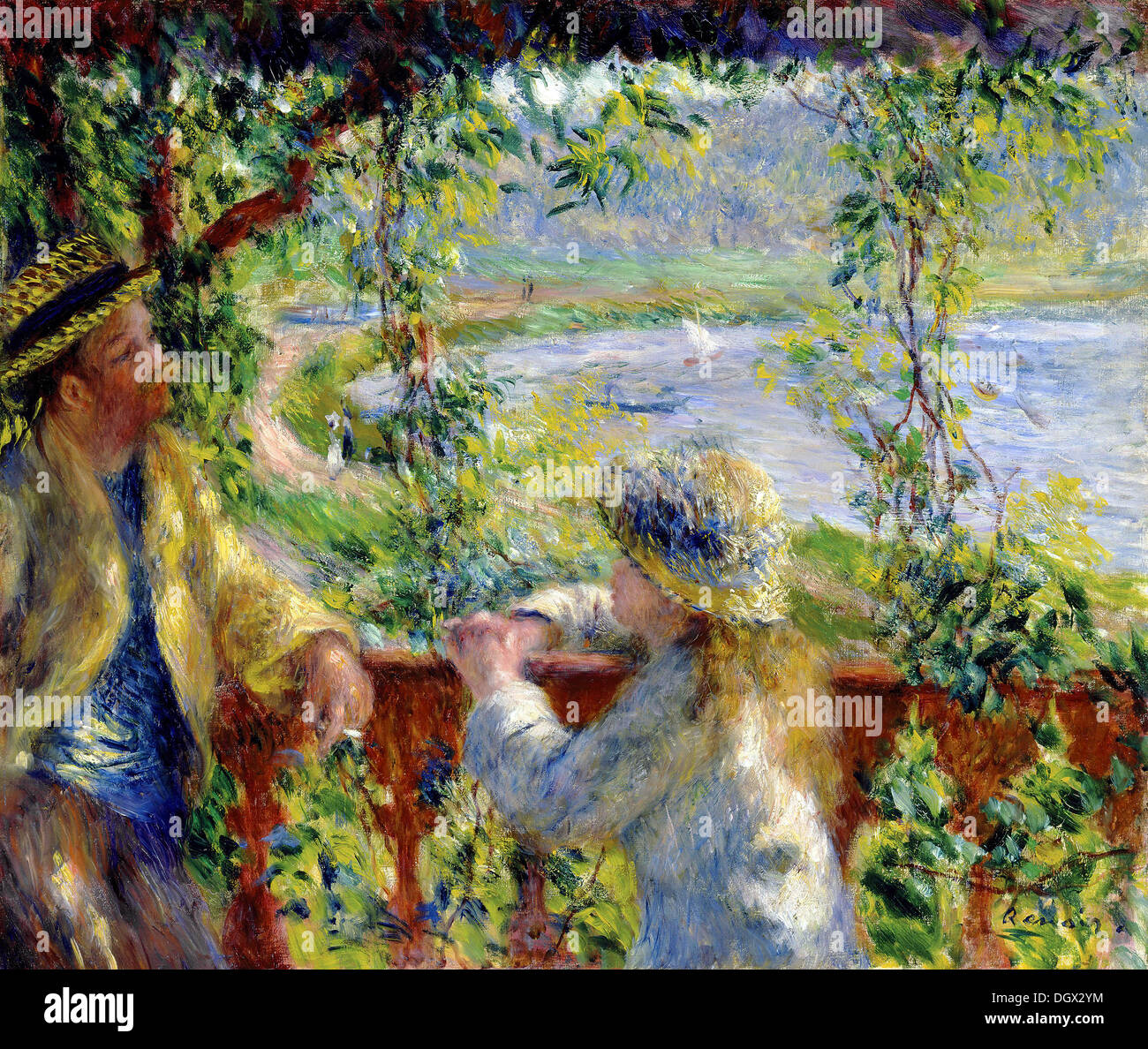 By the Water - by Pierre-Auguste Renoir, 1880 - Stock Image