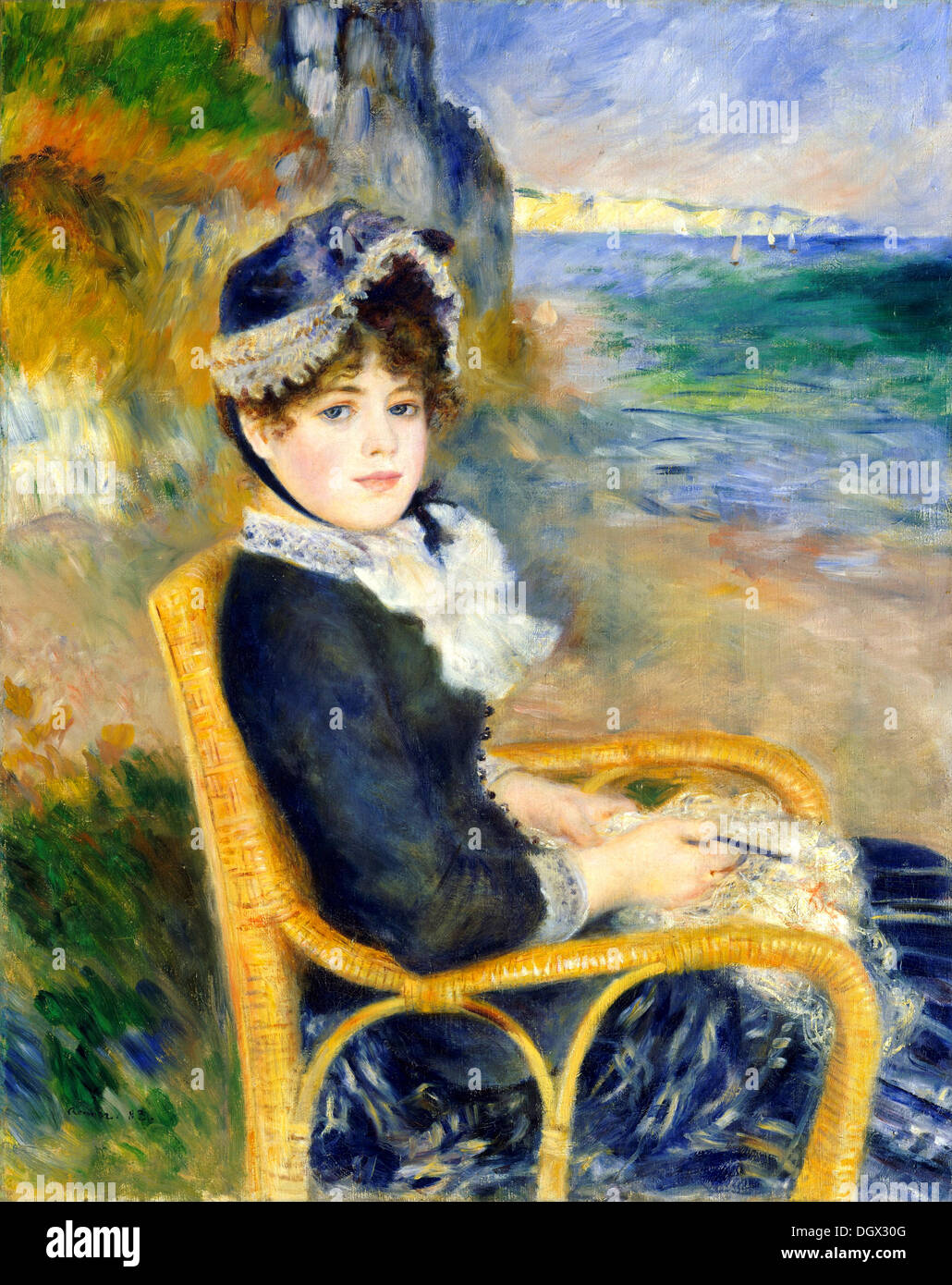 By the Seashore - by Pierre-Auguste Renoir, 1883 - Stock Image