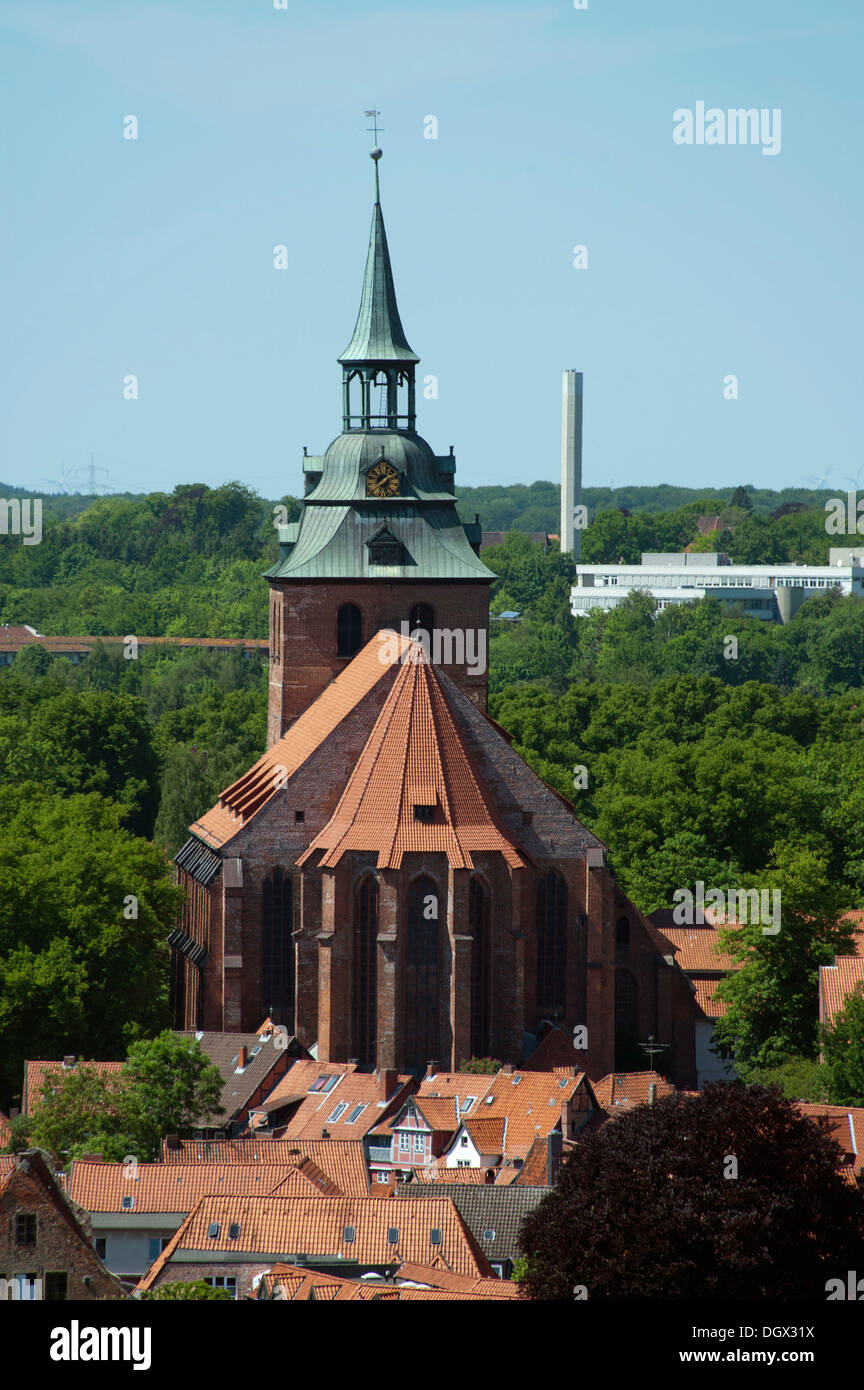 St Michaelis Church, Blick vom Wasserturm, Lüneburg, Lower Saxony, Germany Stock Photo