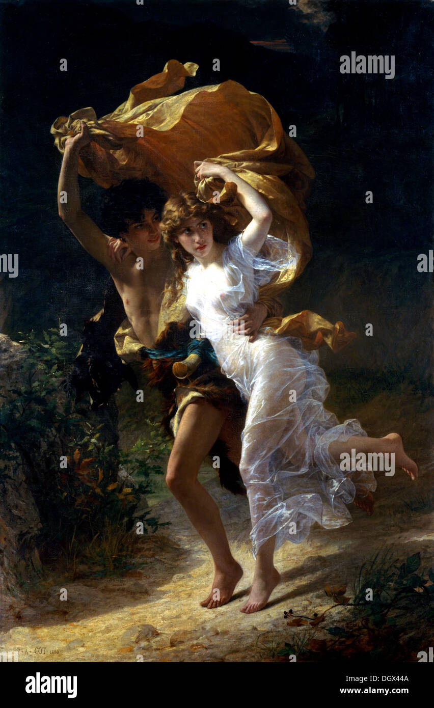 The Storm - by Pierre-Auguste Cot, 1880 - Stock Image