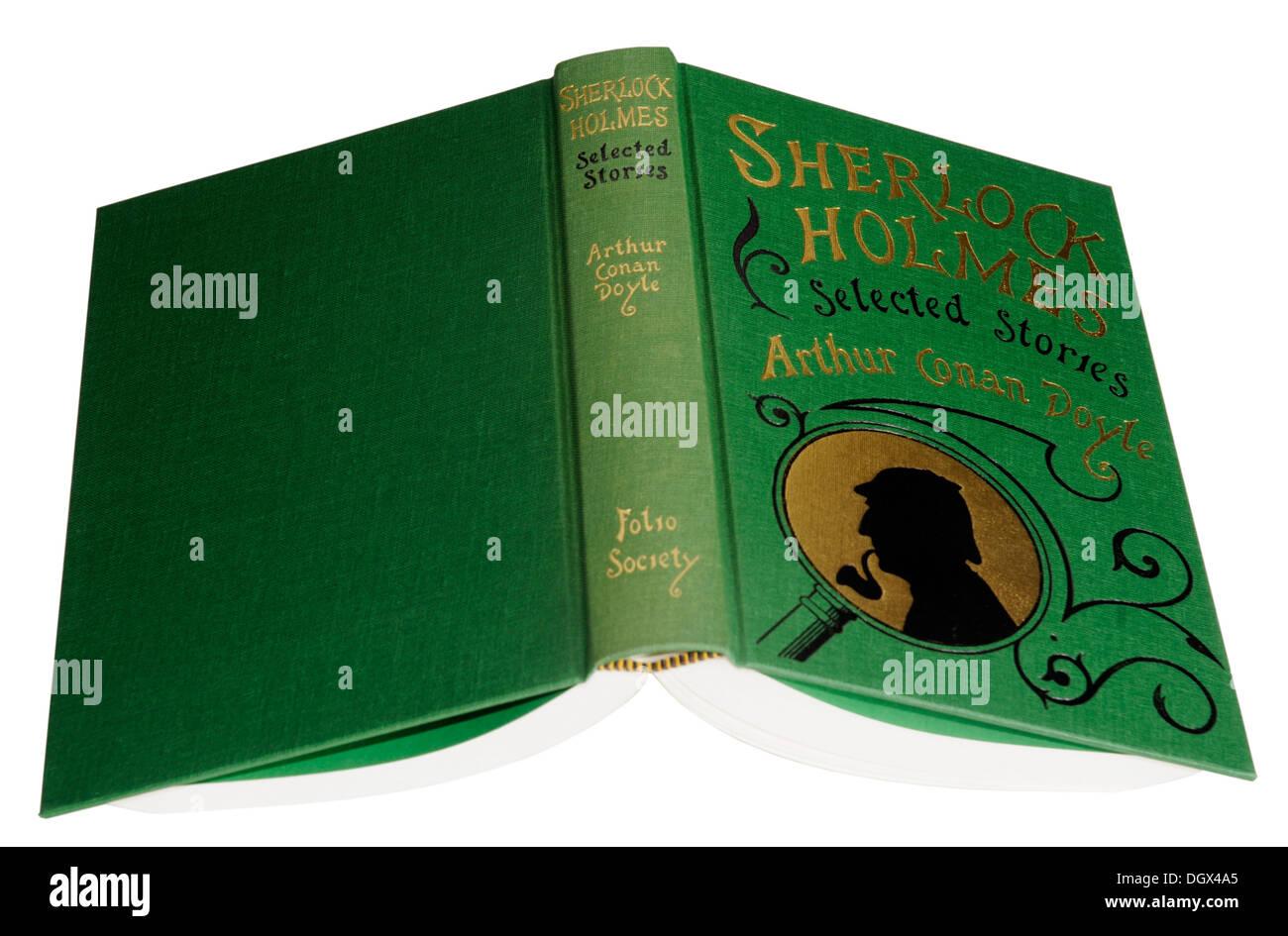 A Folio Society edition of Sherlock Holmes Stories by Sir Arthur Conan Doyle - Stock Image