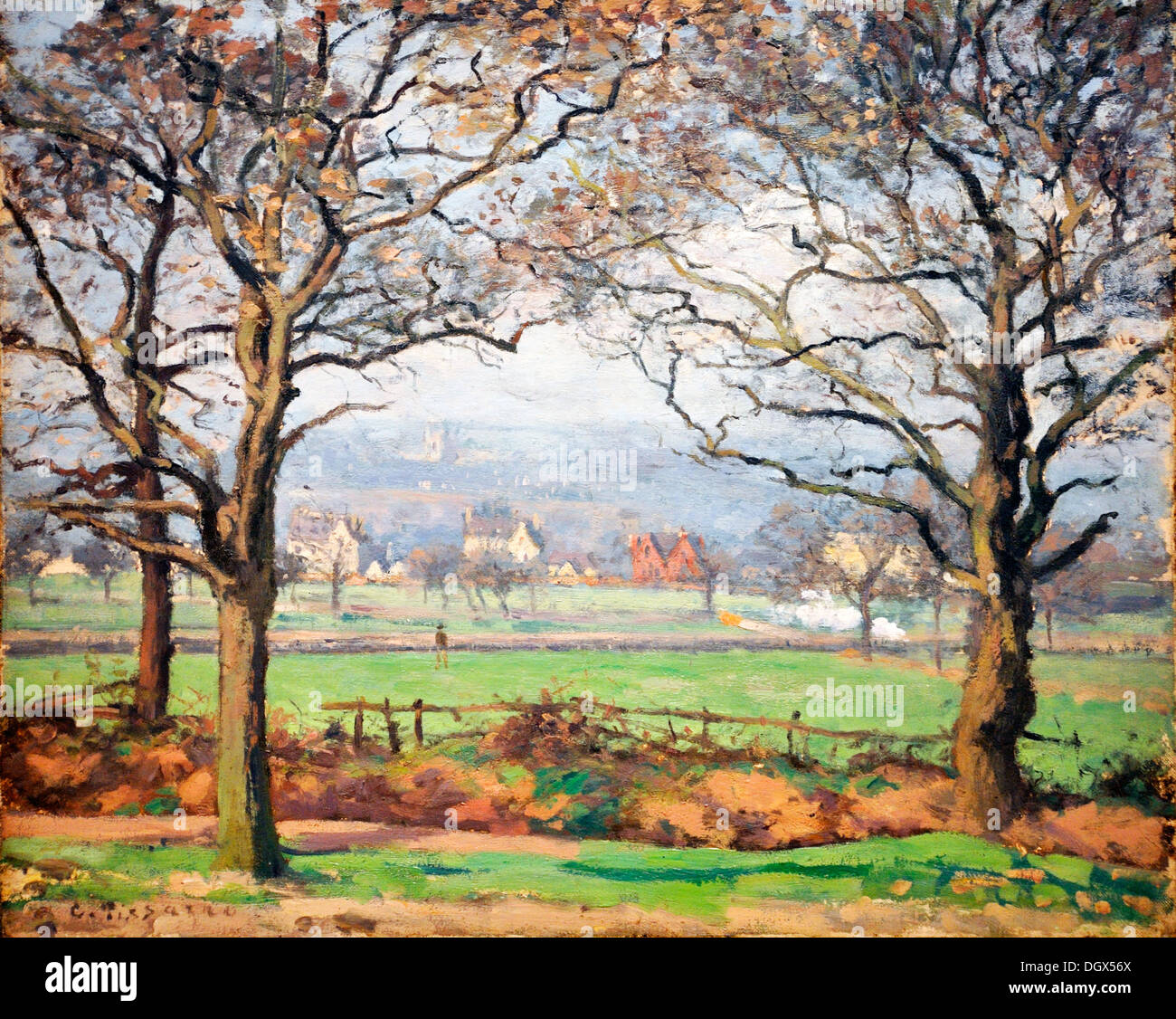 Near Sydenham Hill  - by Camille Pissarro, 1871 - Stock Image