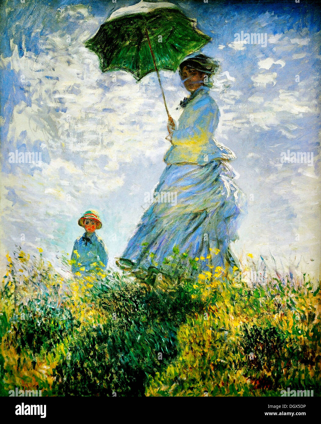 Woman With Parasol By Claude Monet 1875 Stock Photo 62040658 Alamy