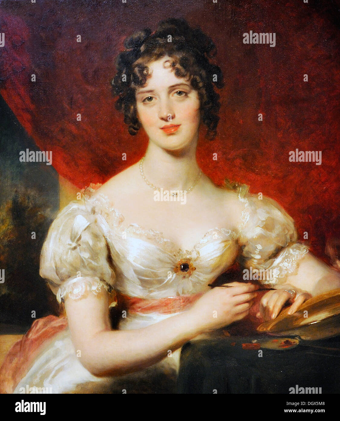 Portrait Of Mary Anne Bloxam (later Mrs. Frederick H. Hemming) - by Thomas Lawrence, 1825 - Stock Image