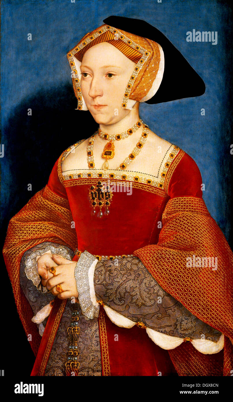 Jane Seymour, Queen of England - by Hans Holbein the Younger, 1537 - Stock Image