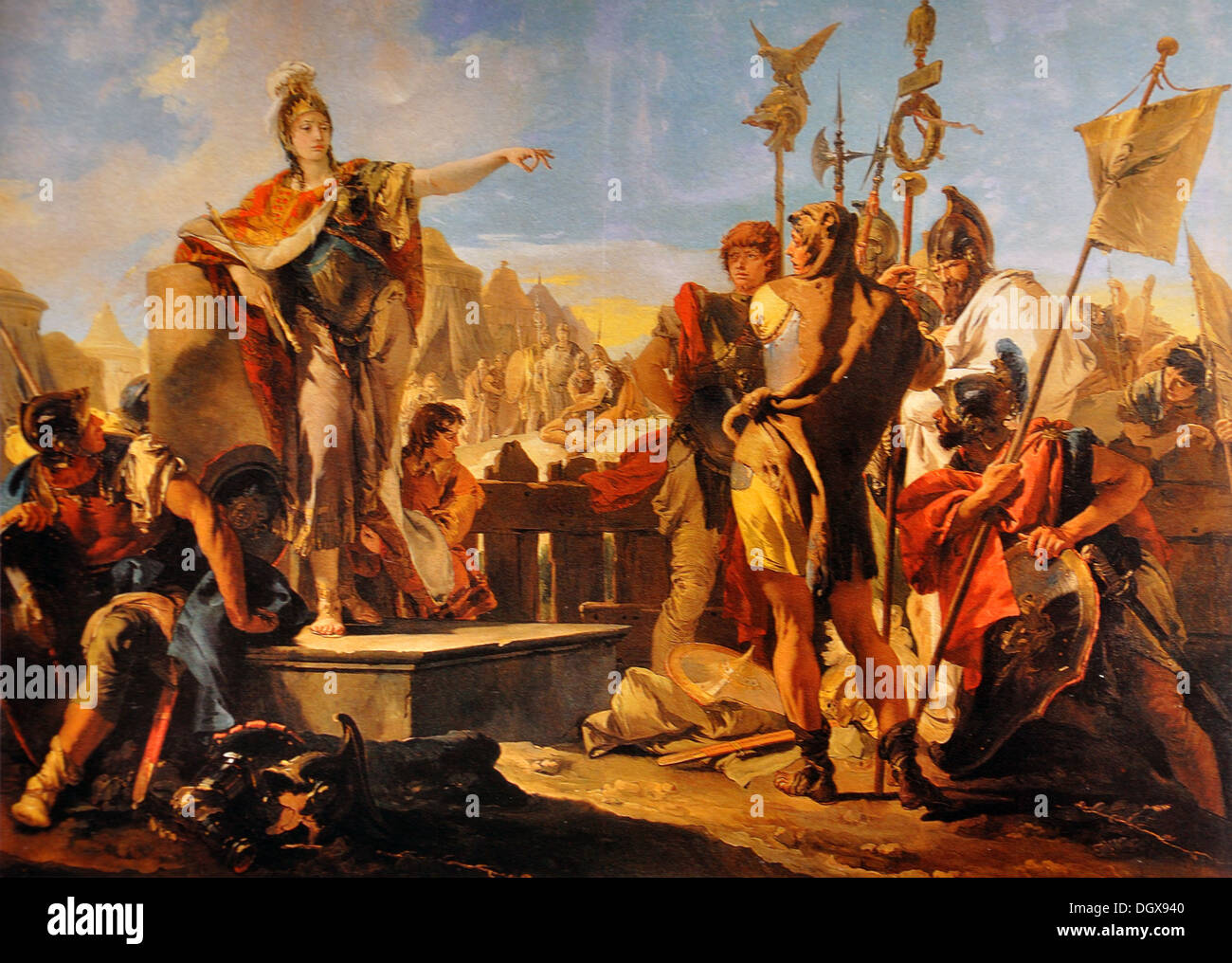Queen Zenobia Addressing Her Soldiers - by Giovanni Battista Tiepolo, 1730