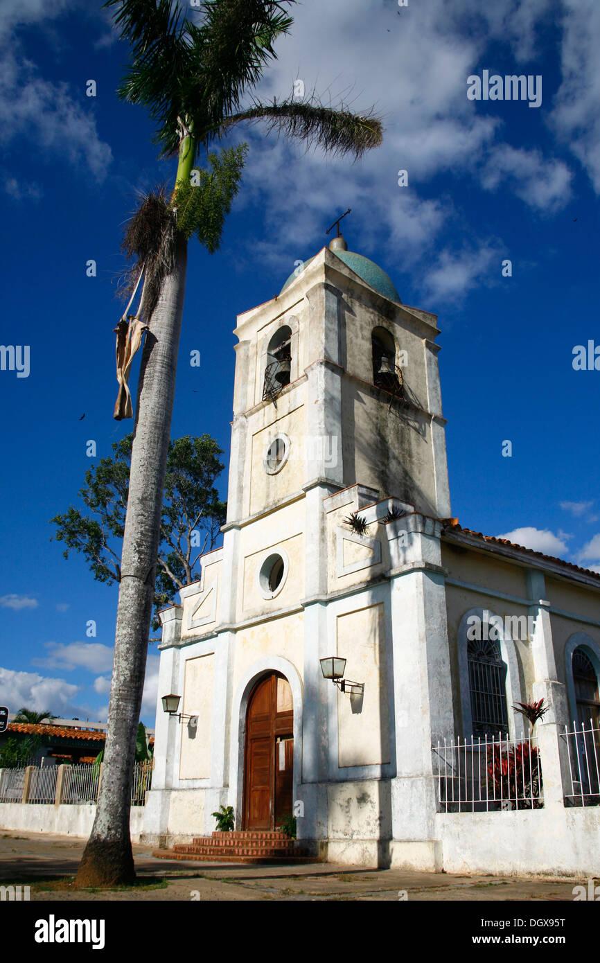 Church of Vinales, Cuba, Greater Antilles, Caribbean - Stock Image