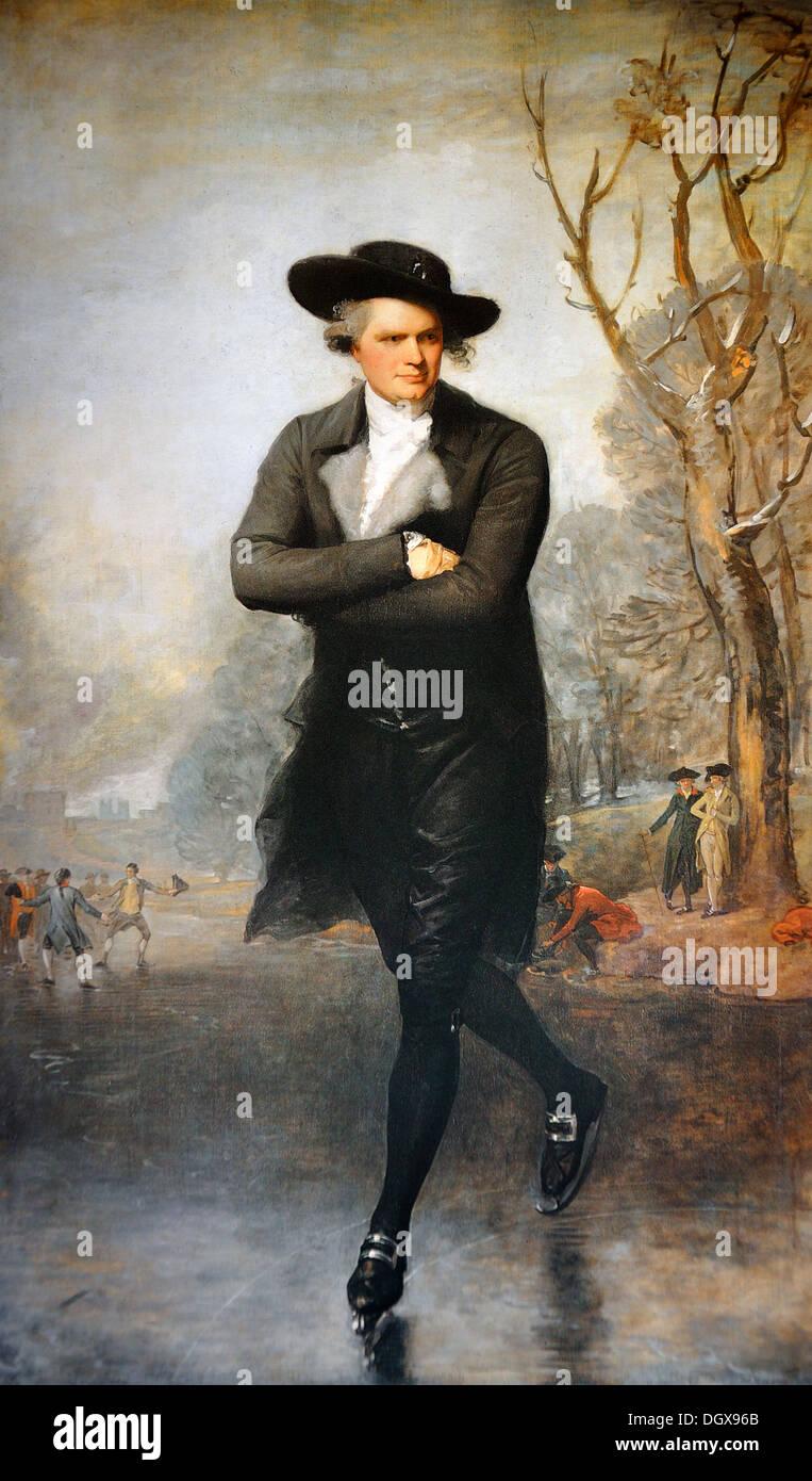 The Skater (Portrait of William Grant) - by Gilbert Stuart, 1782 - Stock Image