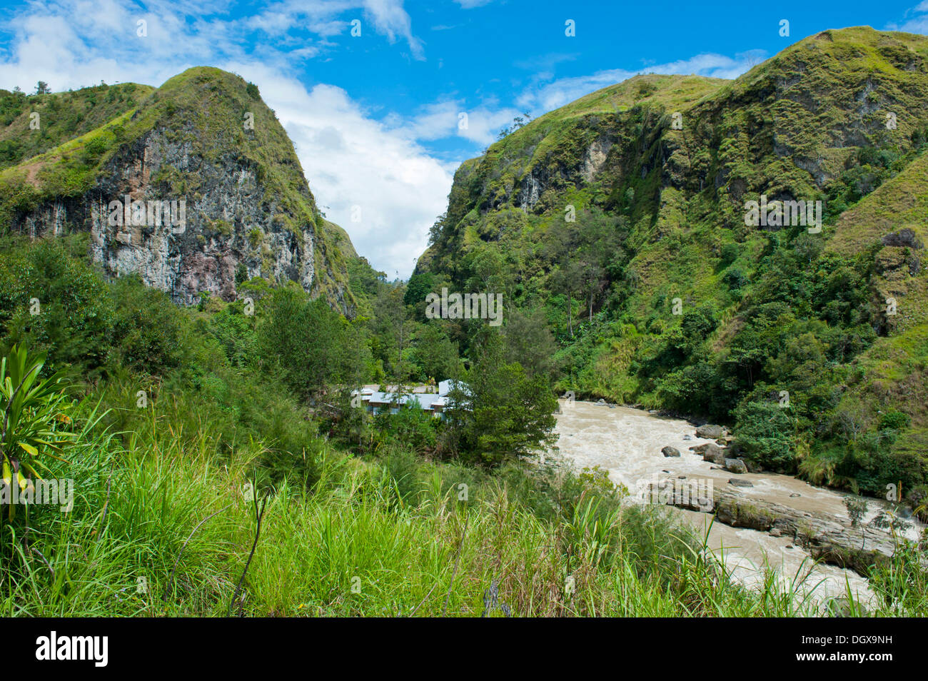 Lae River in the highlands, Papua New Guinea - Stock Image