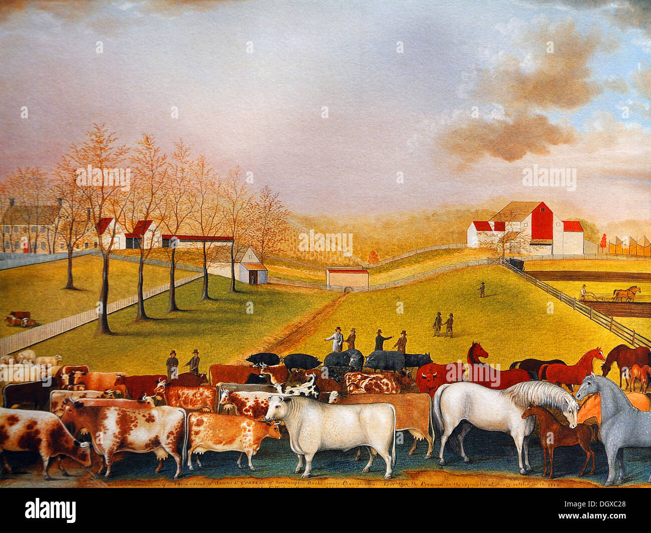 The Cornell Farm - by Edward Hicks, 1848 - Stock Image