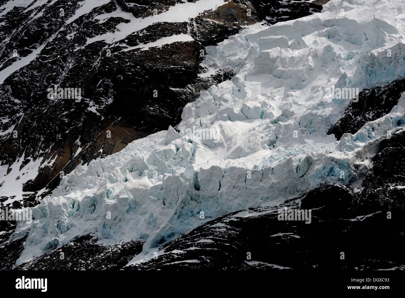 Icefall, Patagonia, Chile, South America - Stock Image