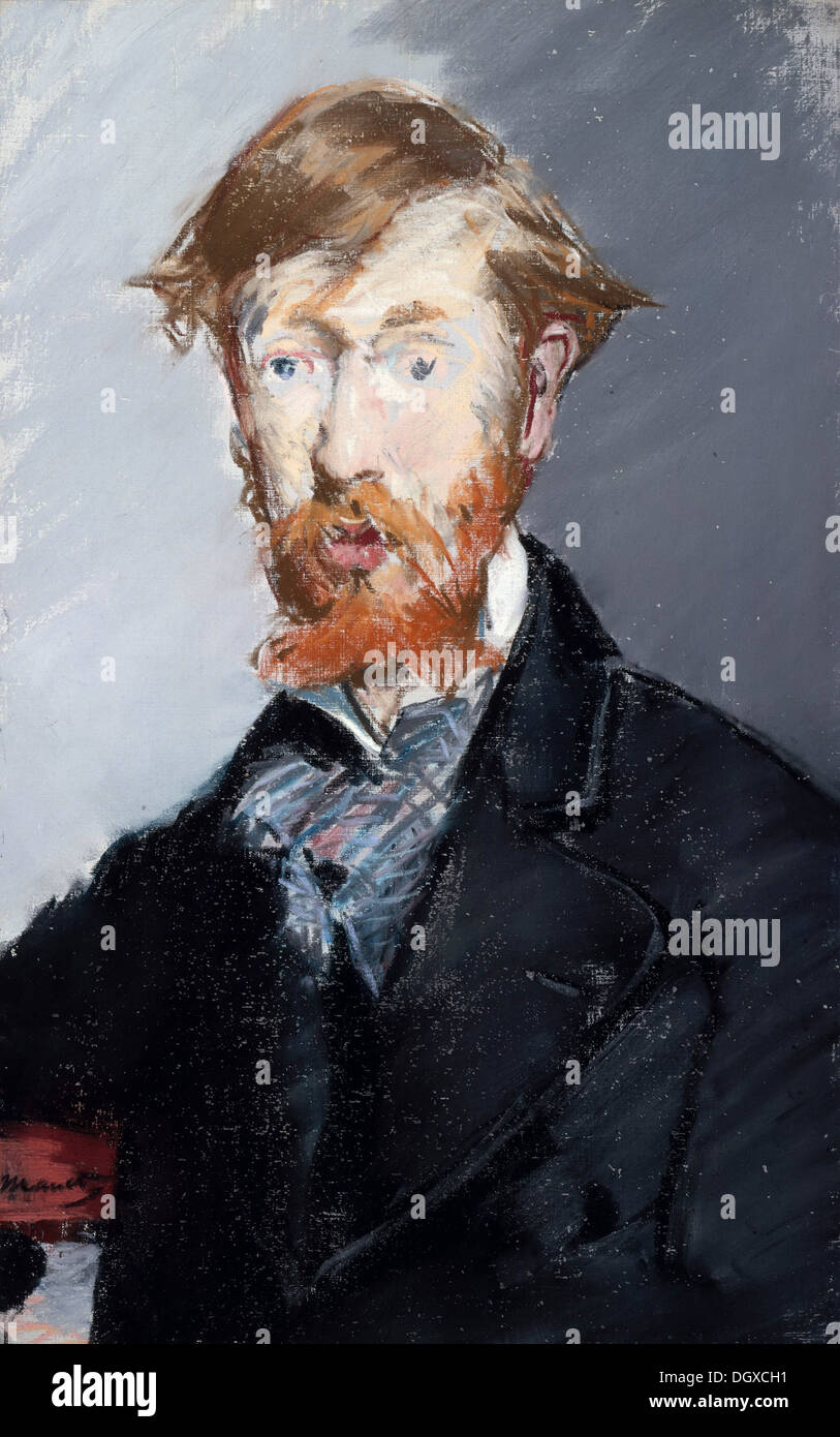 George Moore - by Édouard Manet, 1877 - Stock Image