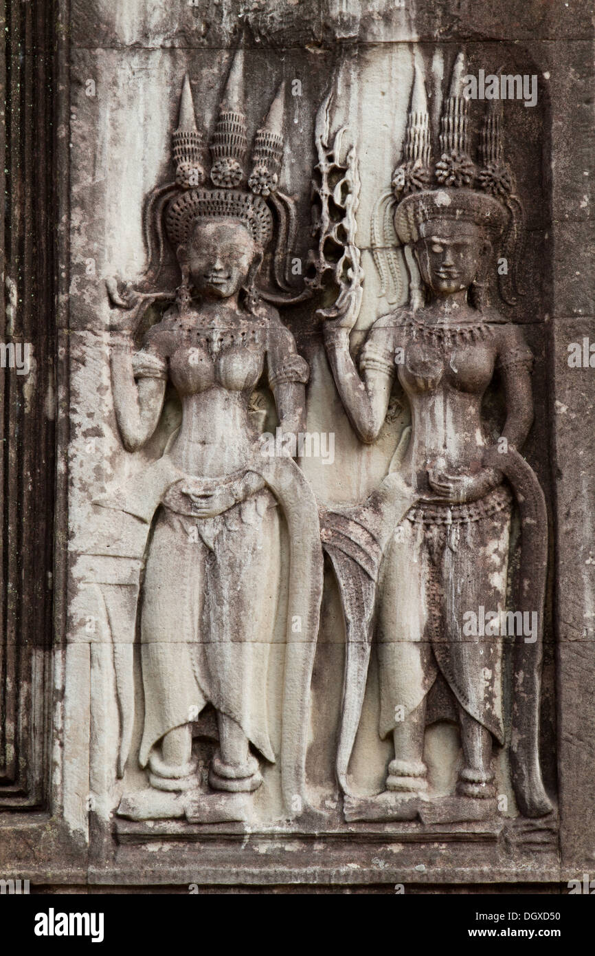 Wall carvings stock photos images