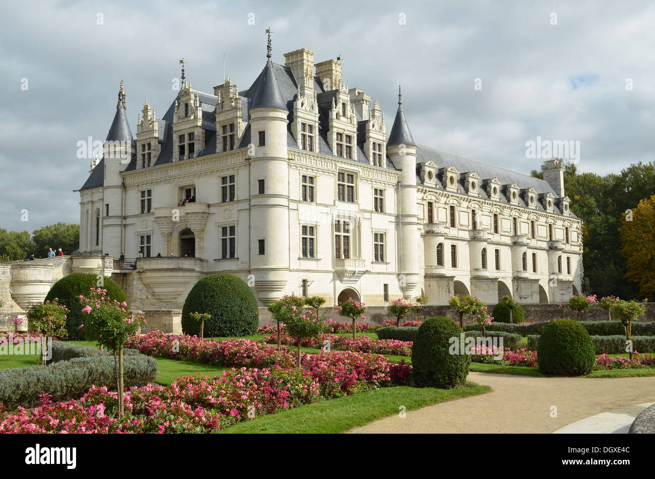 Chenonceau Chateau and Garden Loire Valley, France - Stock Image