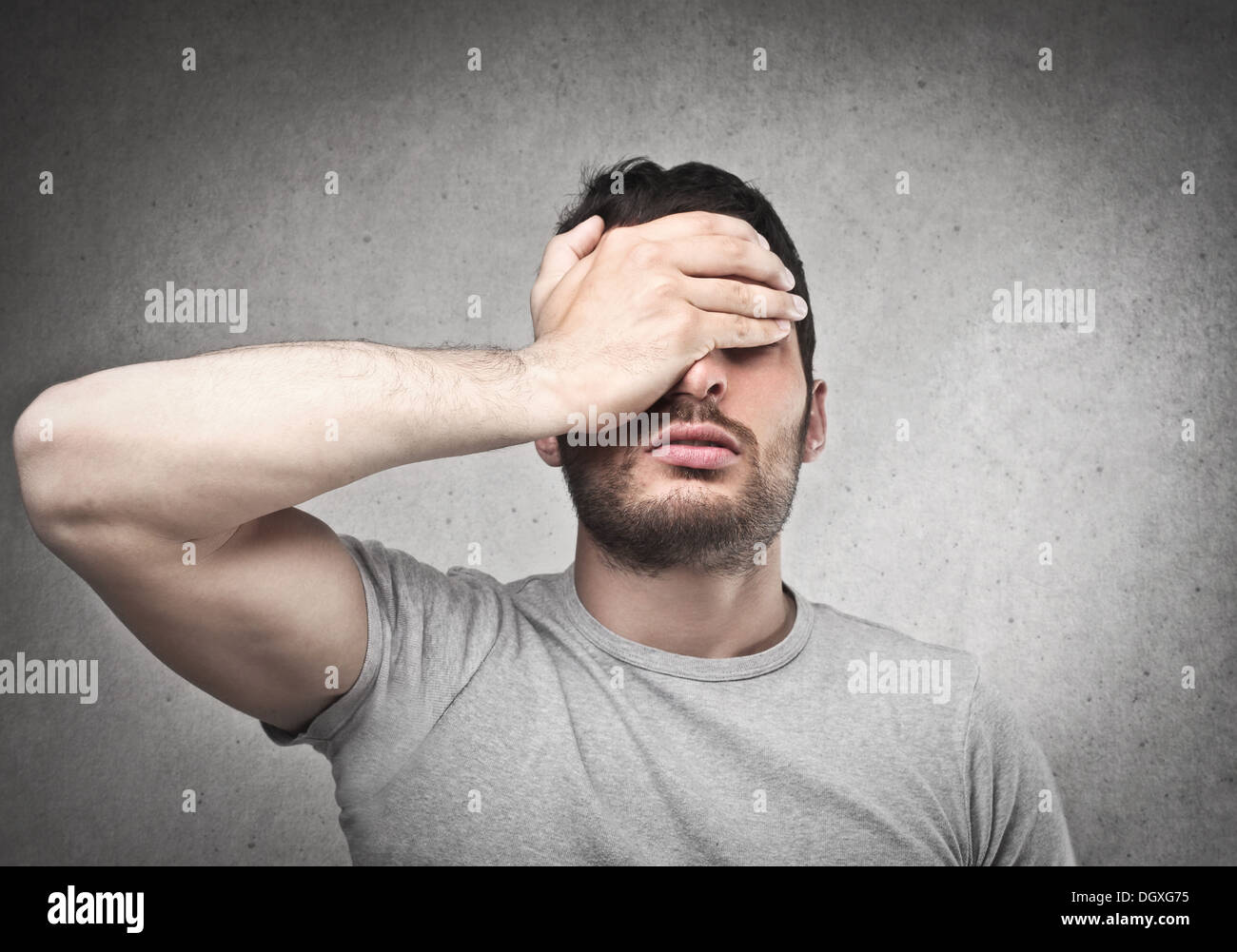 Man has made a mistake - Stock Image