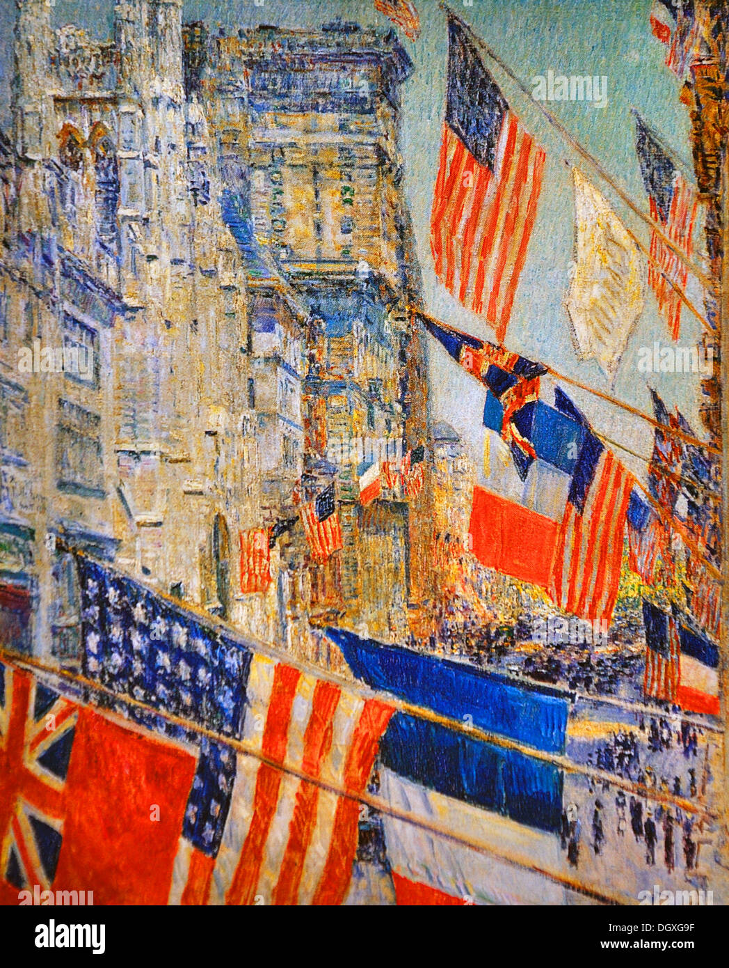 Allies Day, May 1917 - by Childe Hassam, 1917 - Stock Image