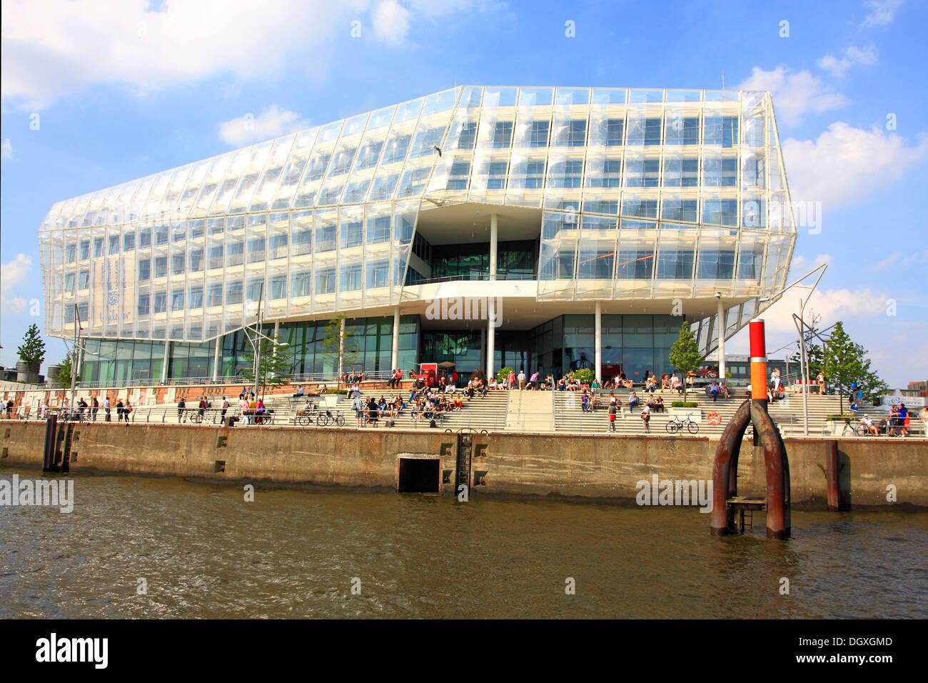 Unilever House, HafenCity quarter, Hamburg, PublicGround - Stock Image