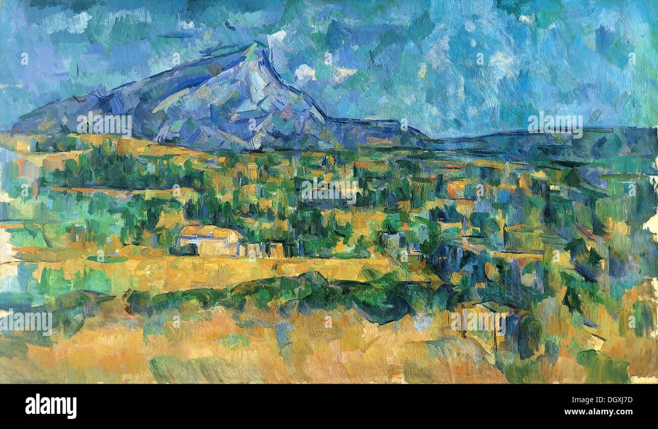 Mont Sainte-Victoire - by Paul Cézanne, 1906 - Stock Image