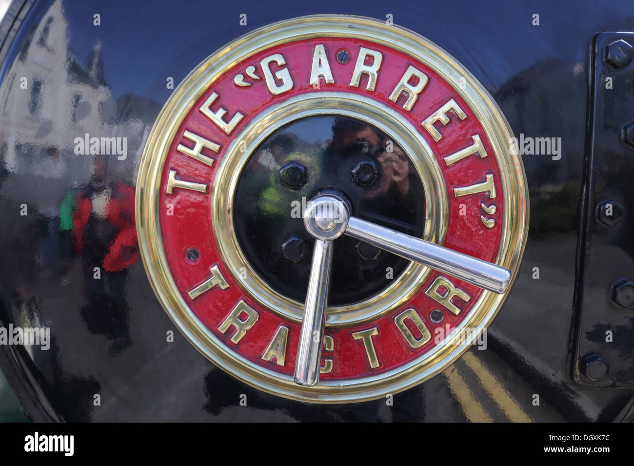 Traction Engine Front; Trevithick Day; Camborne; Cornwall - Stock Image