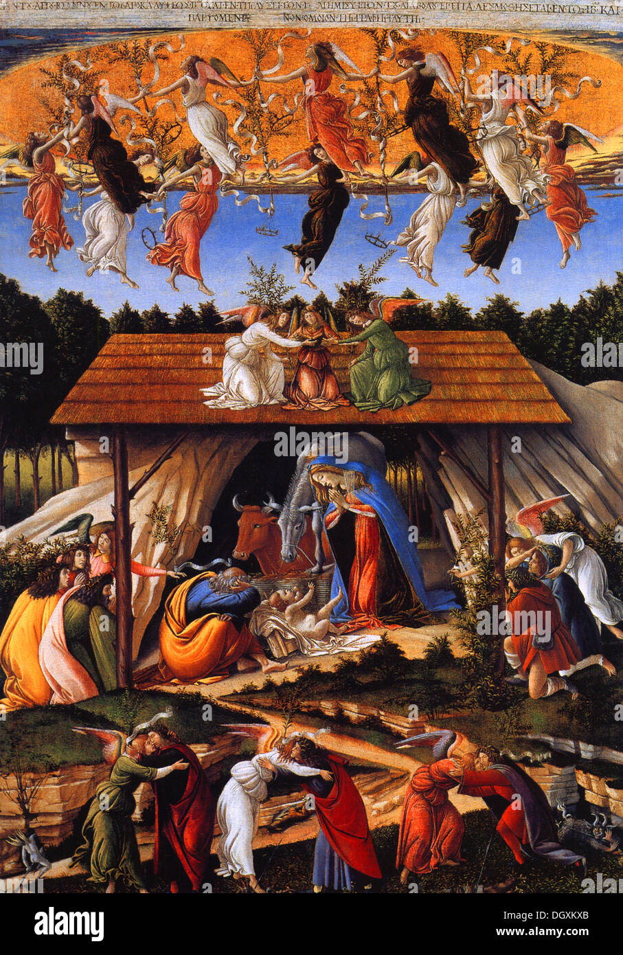 The Mystical Nativity  - by Sandro Botticelli, 1501 - Editorial use only. - Stock Image