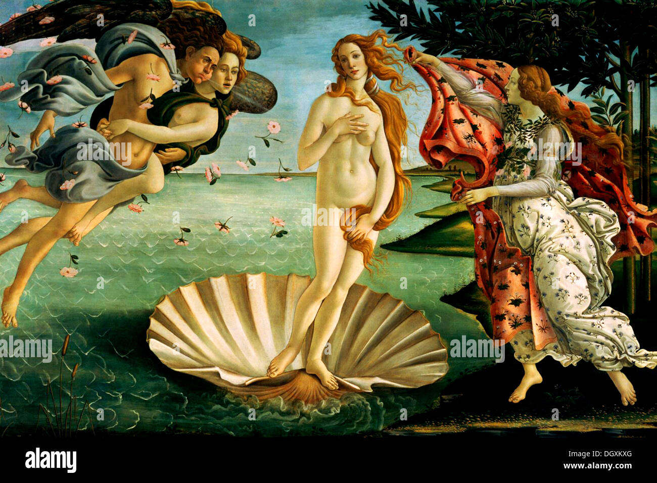 The Birth of Venus  - by Sandro Botticelli, 1486 - Editorial use only. - Stock Image
