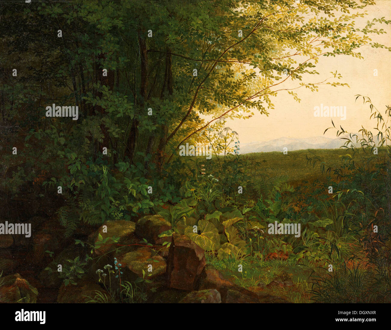 August Heinrich - At the Edge of the Forest, 1820 - Stock Image