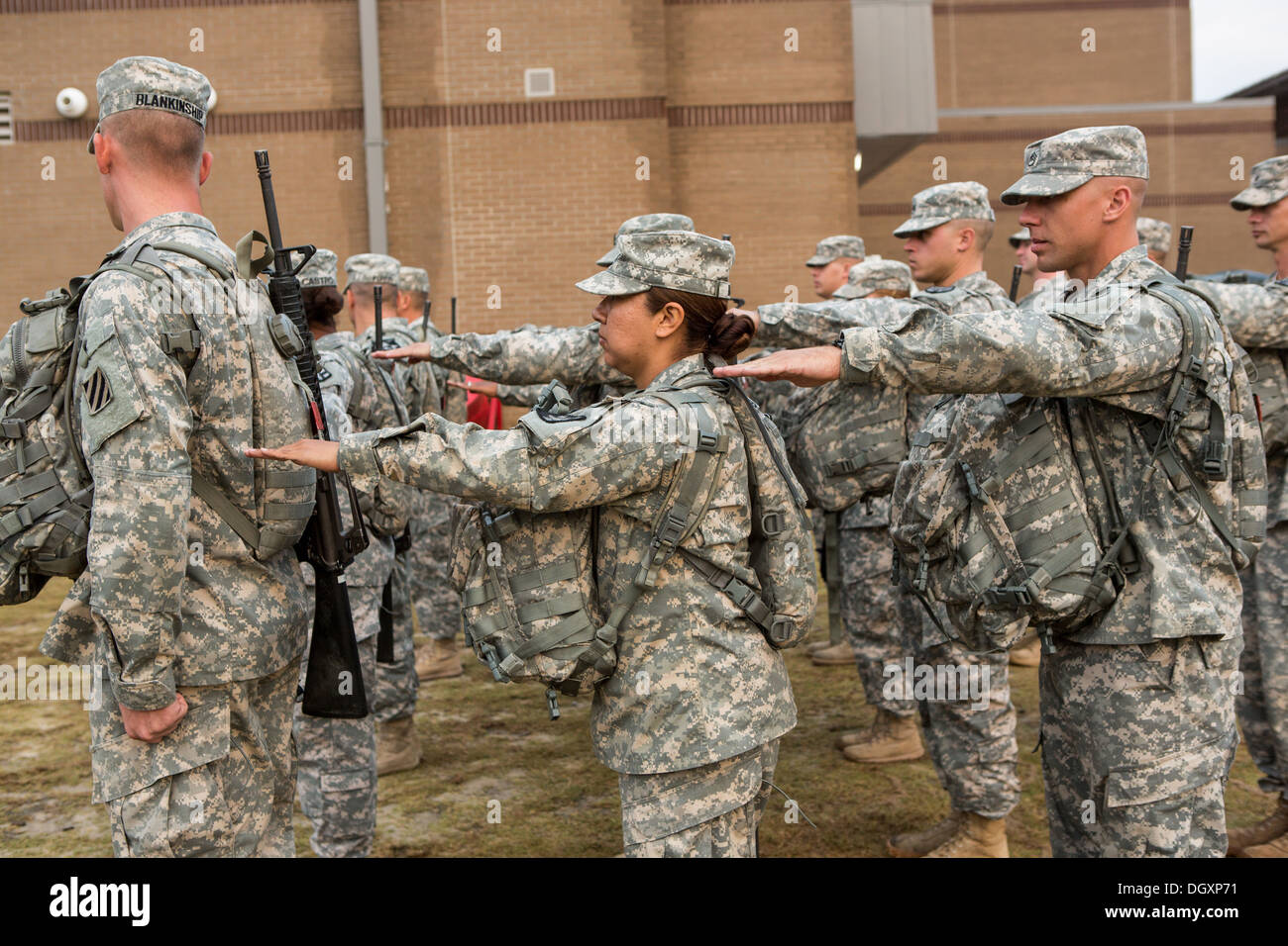 Women Drill Sergeant candidates at the US Army Drill Instructors Stock Photo: 62053797 ...
