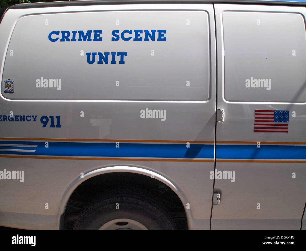 Crime Scene Unit vehicle of the Nashville Metropolitan Police Department, Nashville, Tennessee, USA - Stock Image