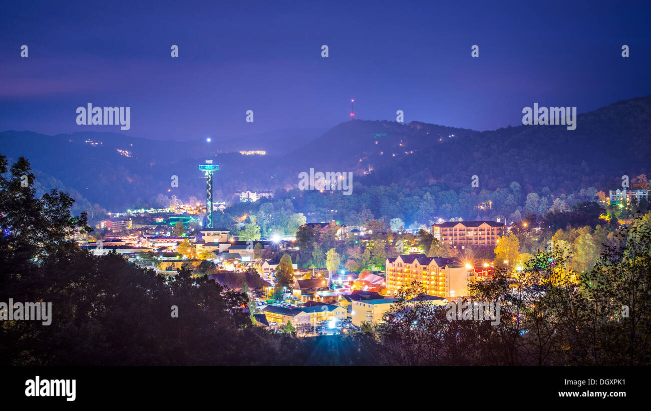 Gatlinburg, Tennessee in the Smoky Mountains. - Stock Image