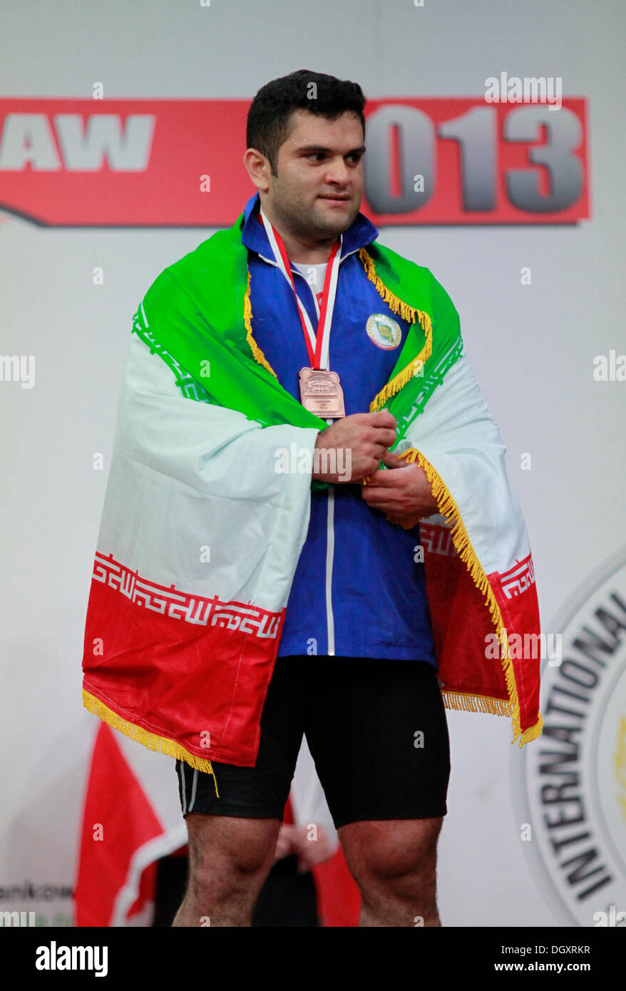 Wroclaw, Poland. 27th Oct, 2013. World Championships (IRI) won the bronze in cjerk during Men's 105 KG Group A Final at 2013 IWF World Weightlifting Championships in Wroclaw, Poland, on Sunday, October 27, 2013. Credit:  Piotr Zajac/Alamy Live News - Stock Image