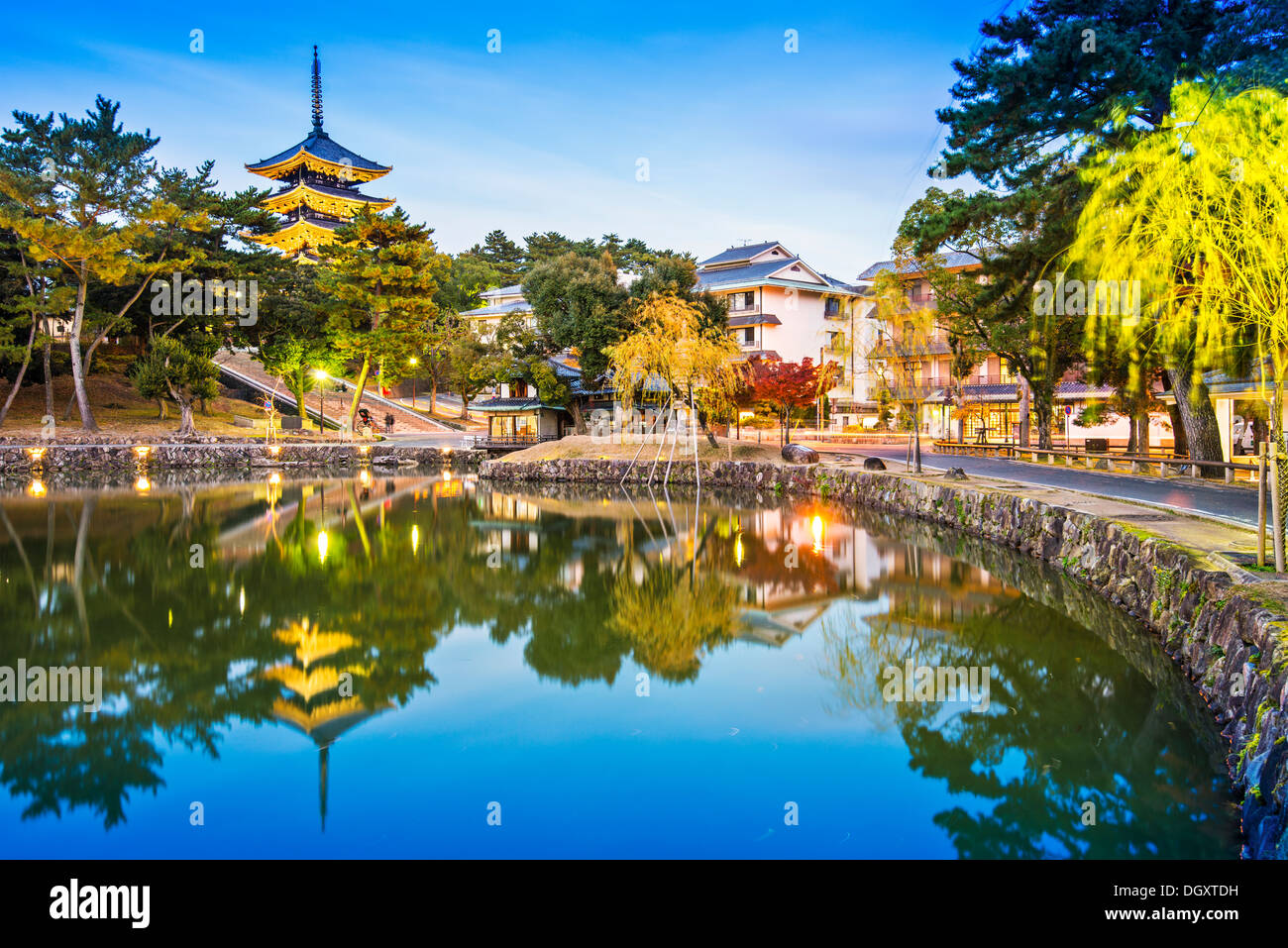 Nara, Japan at Sarusawa Pond. - Stock Image