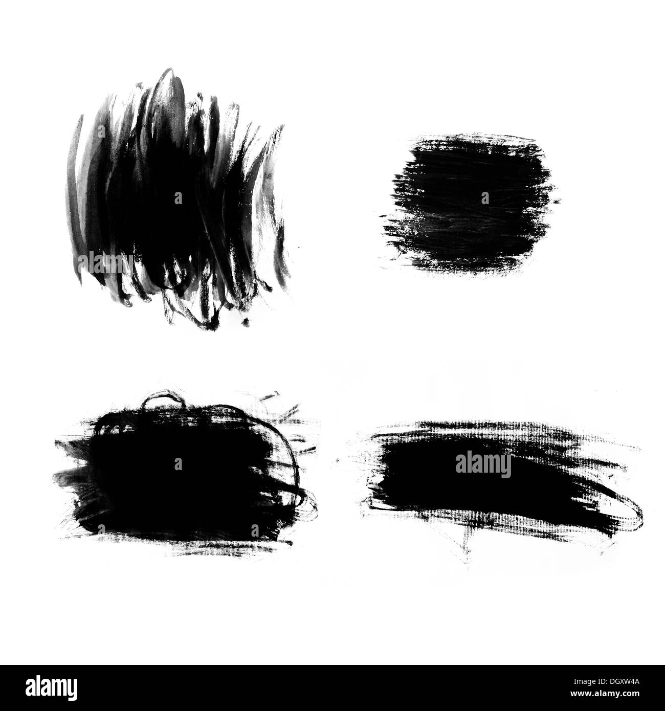 Abstract paint brush strokes Black brush strokes over textured