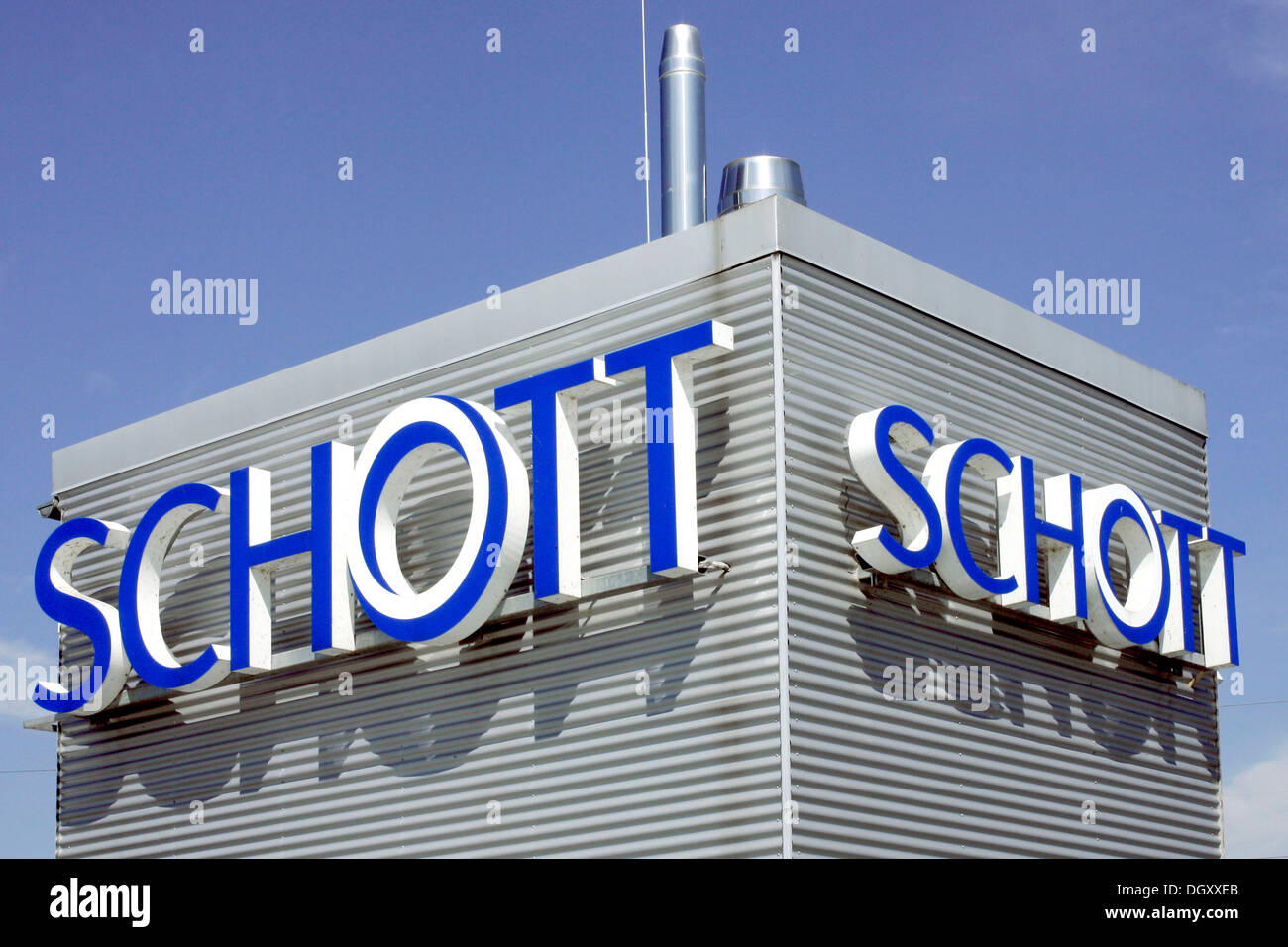 Company Logo Of The Schott Ag On The Company Grounds Of Schott Stock