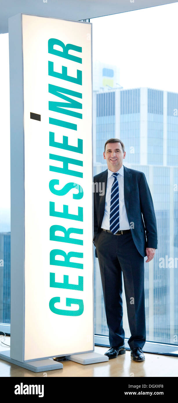 Uwe Roehrhoff, Chief Executive Officer, CEO of Gerresheimer AG, supplier of packaging and systems solutions made from glass and - Stock Image
