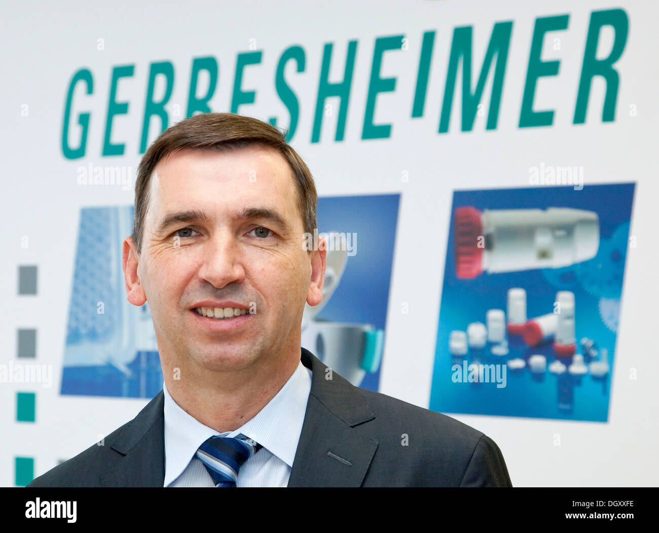 Uwe Roehrhoff, CEO of Gerresheimer AG, supplier of packaging and systems solutions made from glass and plastics for the - Stock Image