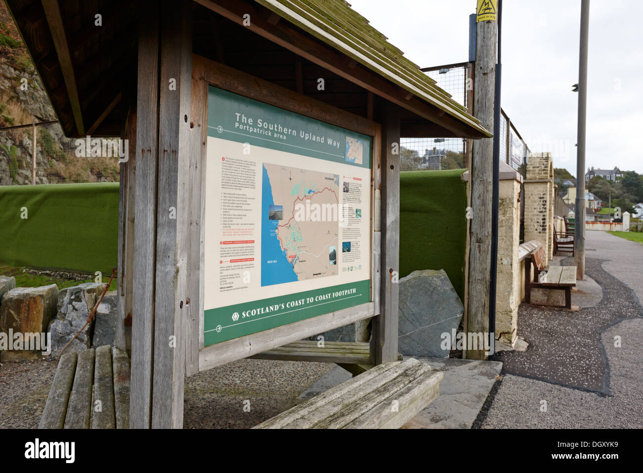 start of the southern upland way portpatrick scotland uk - Stock Image