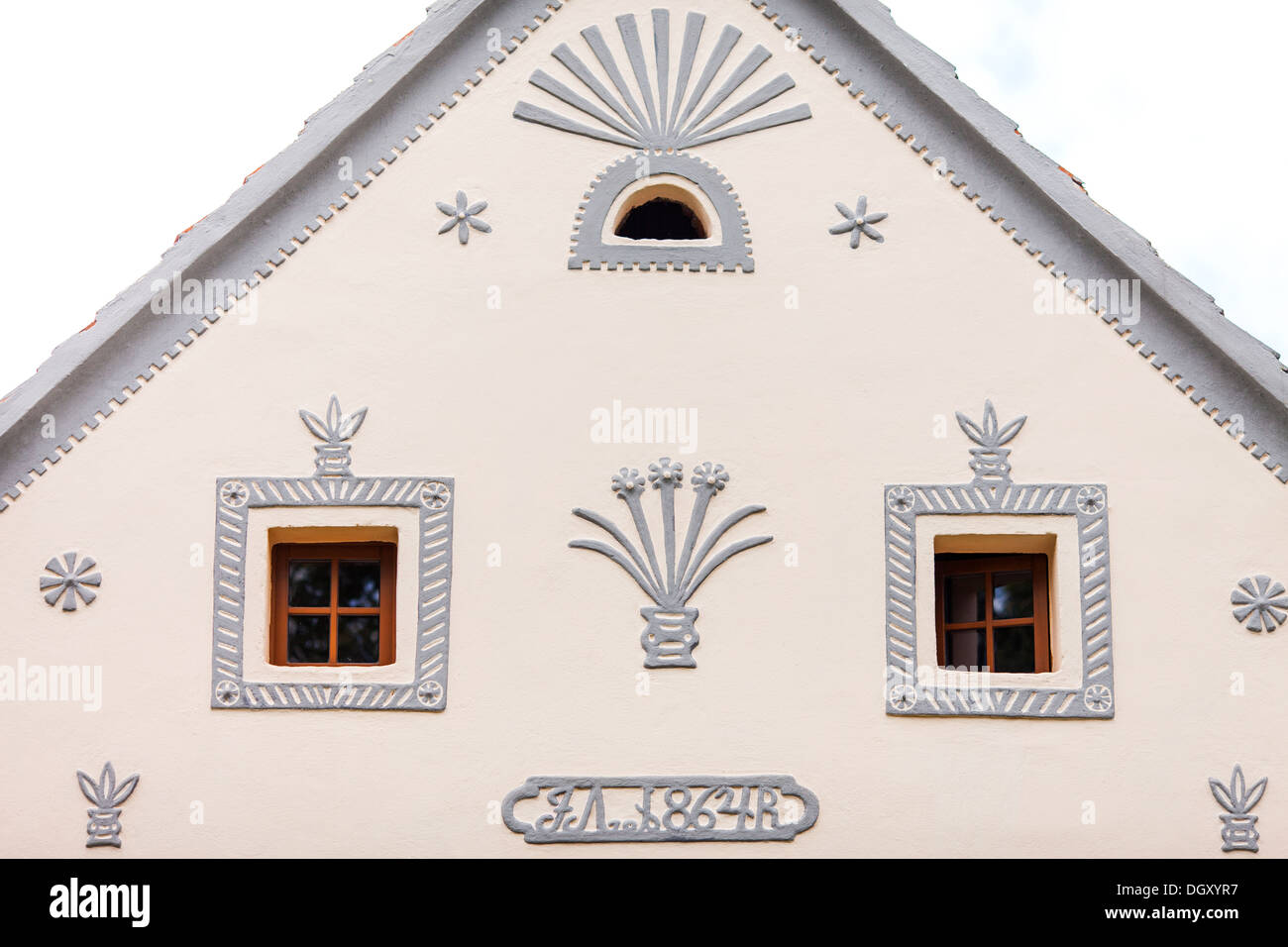 Holasovice, Czech Republic. Baroque - Stock Image