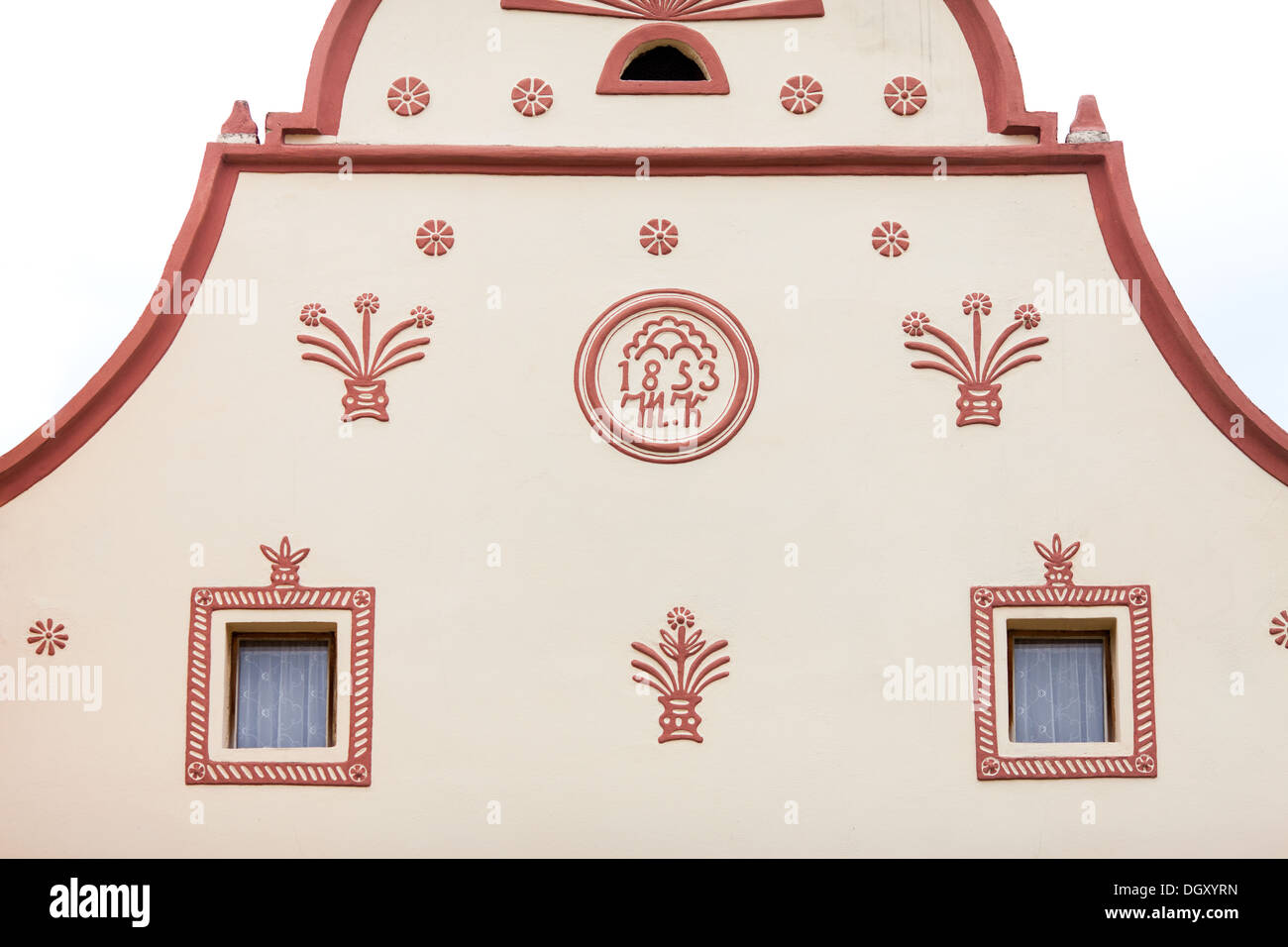 Holasovice, Czech Republic. Buildings in the baroq - Stock Image