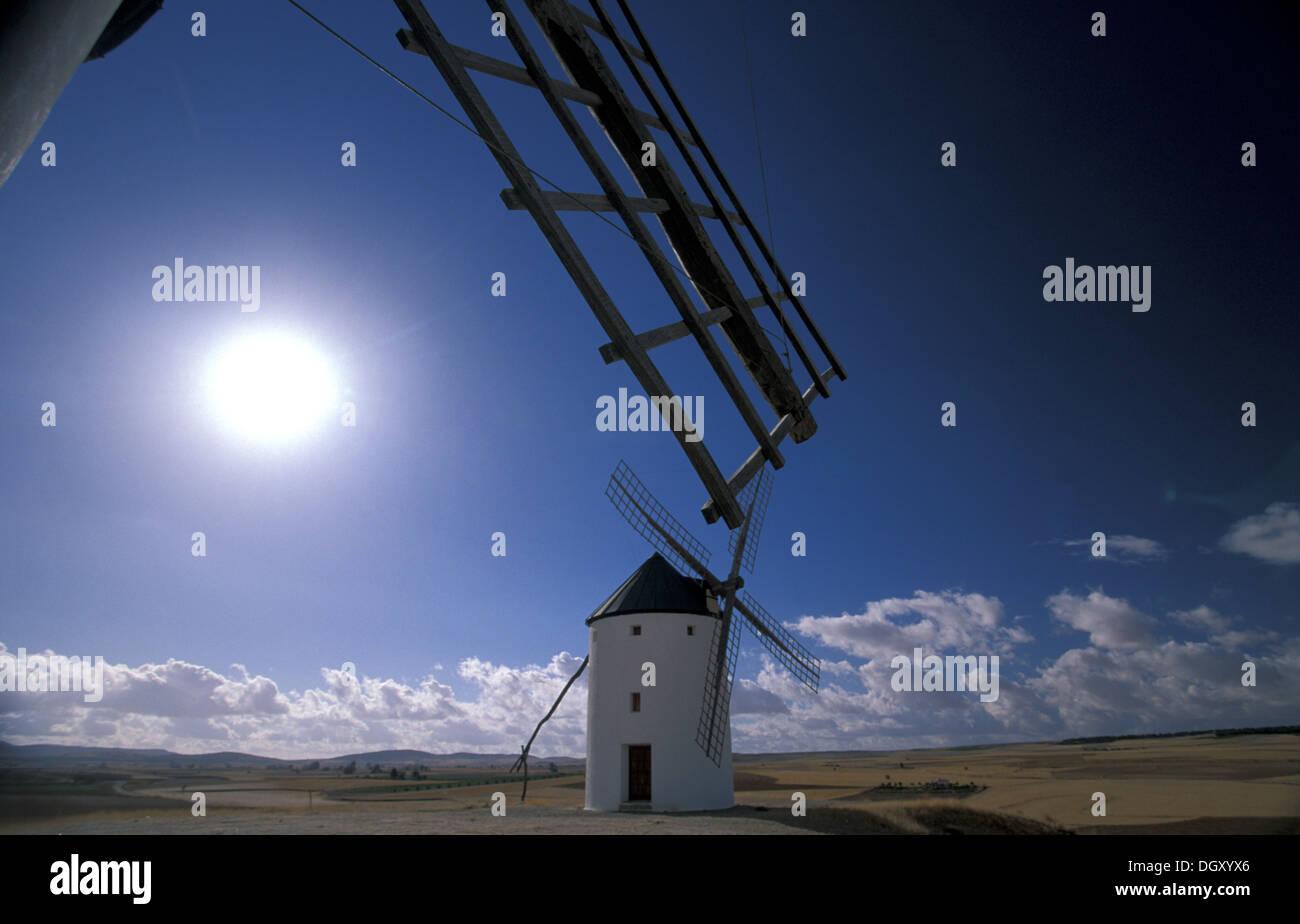 Windmills in Tembleque. Stock Photo