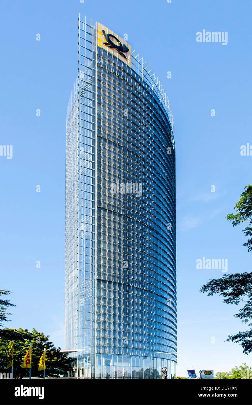 Post Tower, headquarters of Deutsche Post AG, DHL and Postbank, Bonn, Rhineland, North Rhine-Westphalia, Germany Stock Photo