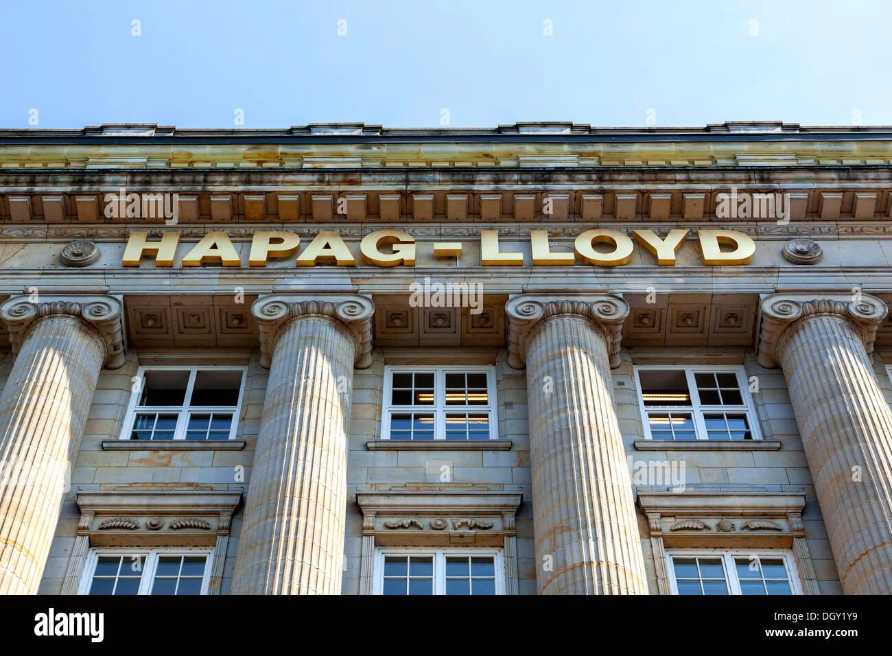 Headquarters of the transport and logistics company Hapag-Lloyd AG, Hamburg, Hamburg, Germany - Stock Image