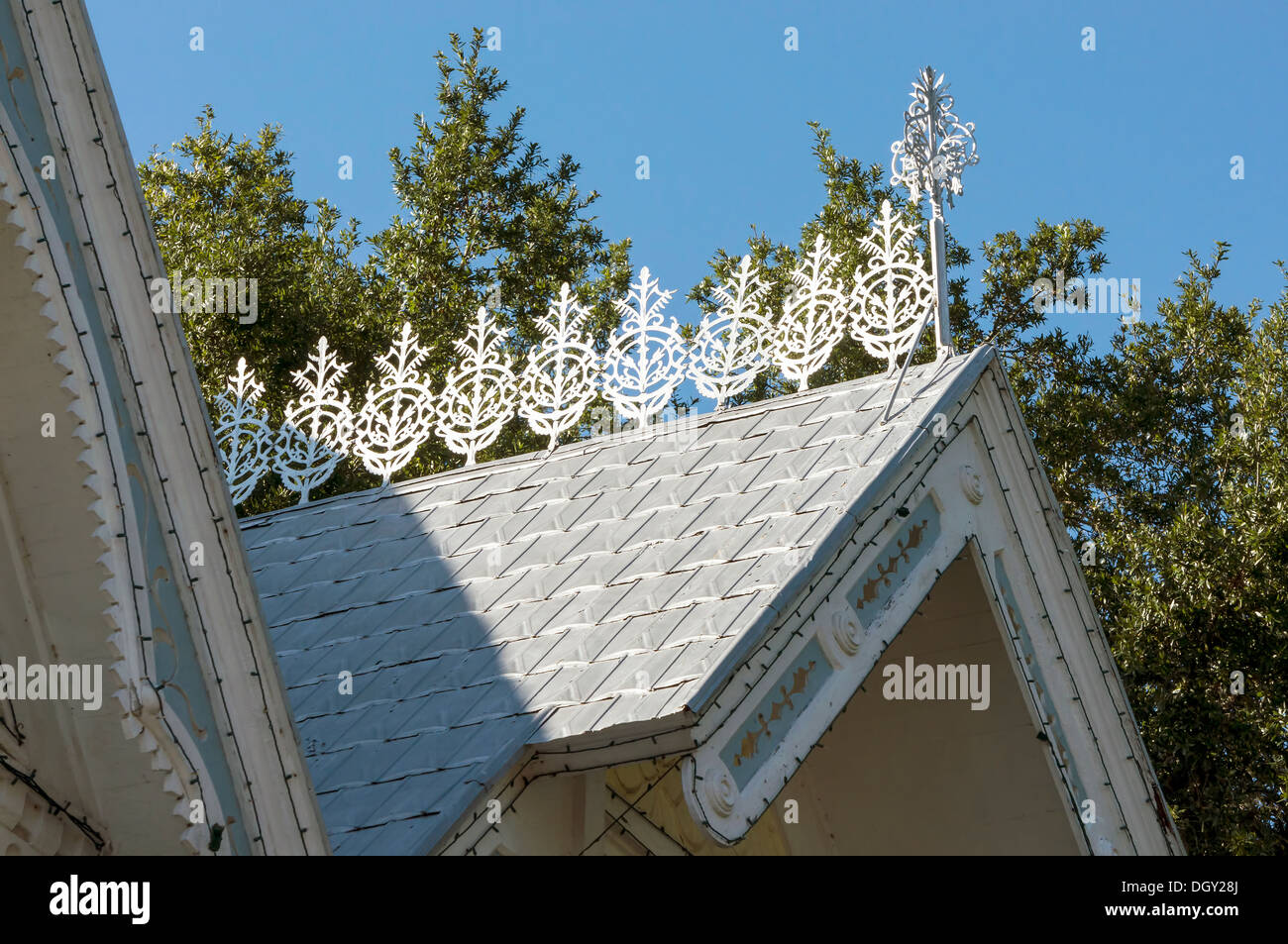Vintage Style Sheet Metal Roofing Shingles And Gingerbread