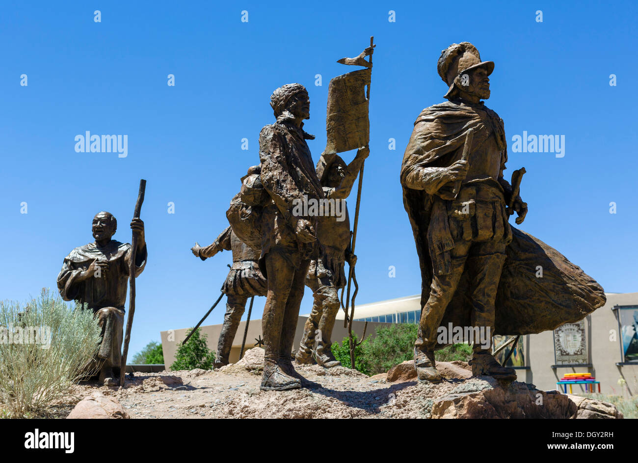 Sculptures outside the Albuquerque Museum of Art and History, Albuquerque, New Mexico, USA Stock Photo