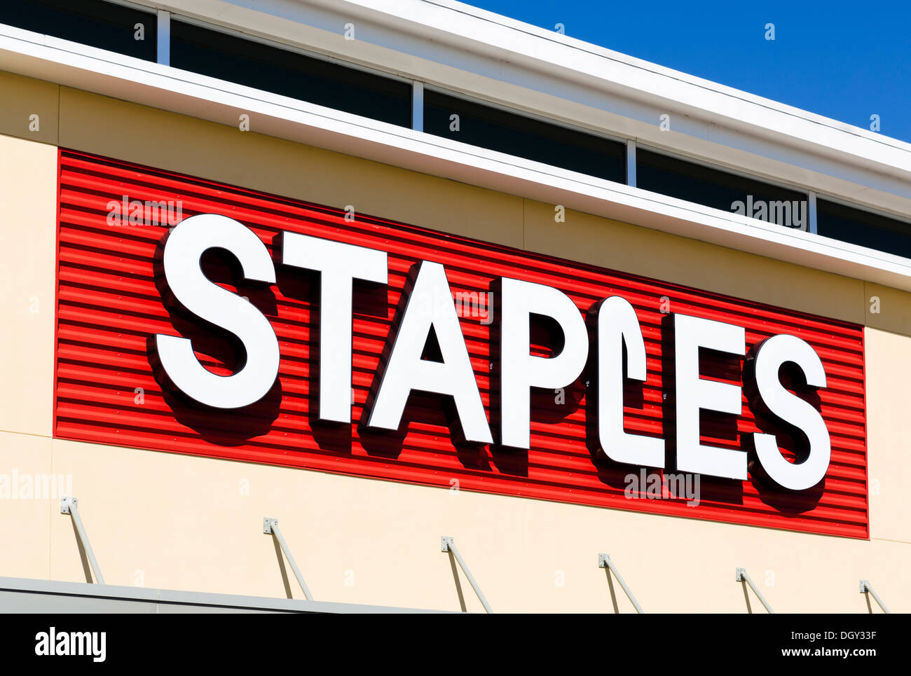 Staples Store, Posner Park, near Haines City, Central Florida, USA - Stock Image