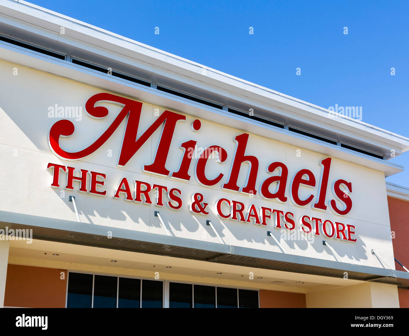 Michaels Arts and Crafts Store, Posner Park, near Haines City, Central Florida, USA - Stock Image