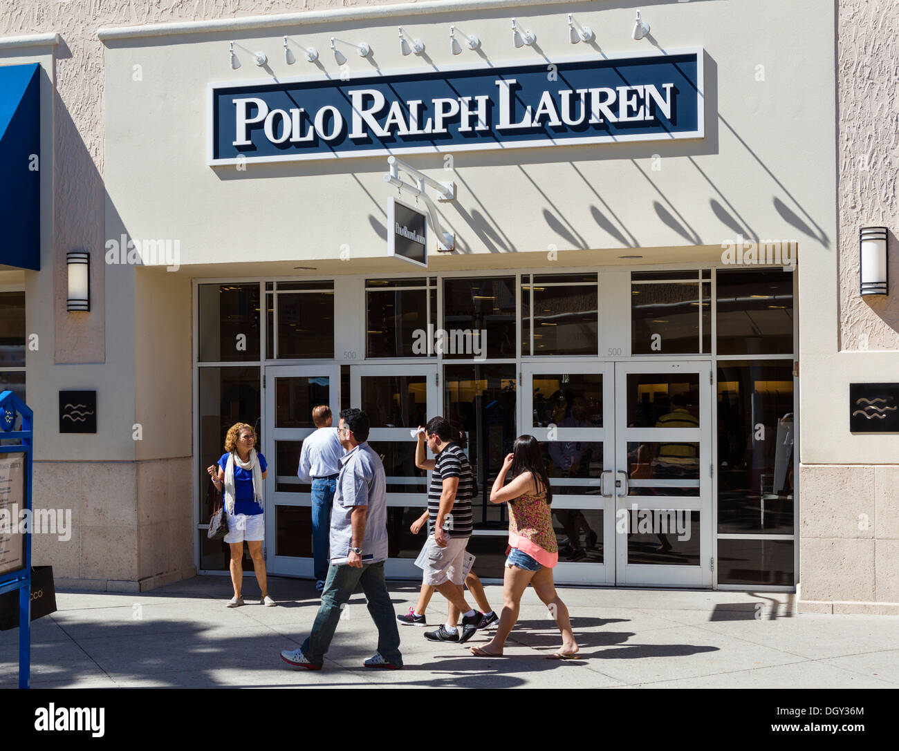 Polo Ralph Lauren outlet store at Orlando Premium Outlets Mall, Vineland Avenue, Lake Buena Vista, Orlando, Central Florida, USA - Stock Image