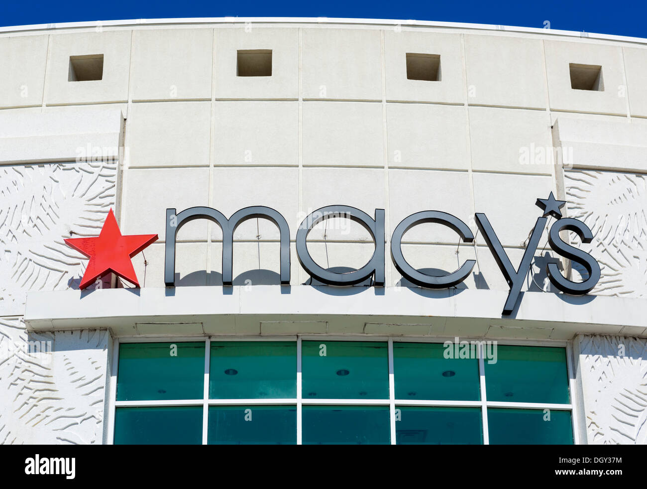 Entrance to Macy's department store at The Florida Mall, Orlando, Central Florida, USA - Stock Image