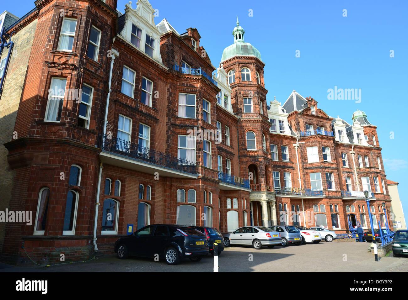 Hotel de Paris on seafront, Cromer, Norfolk, England, United Kingdom England, United Kingdom Stock Photo