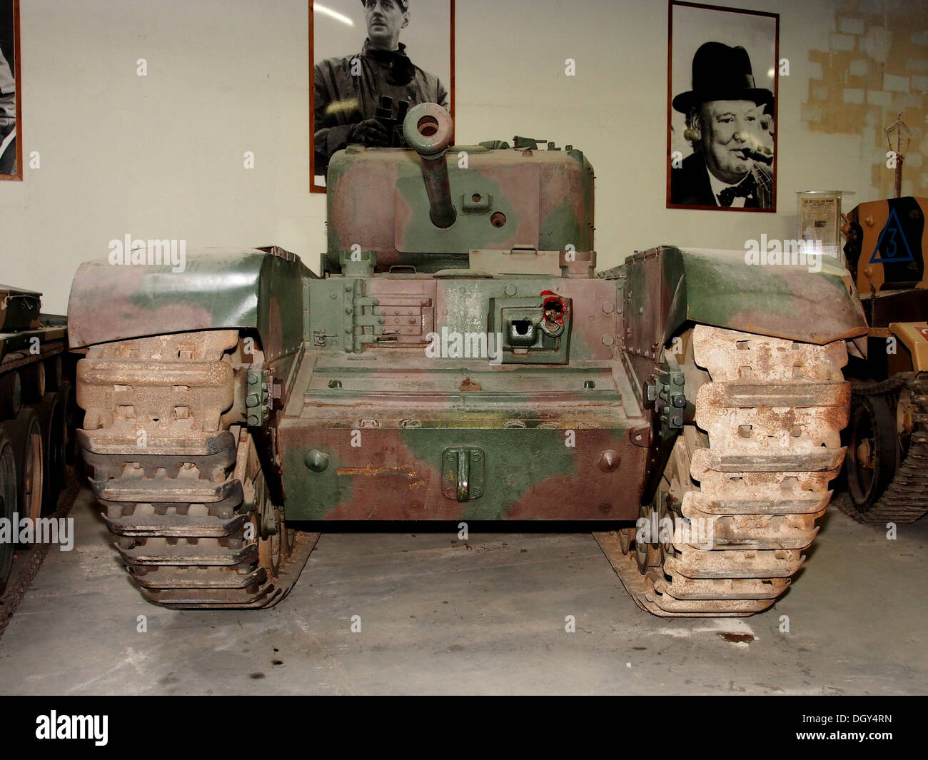 Tank Mark IV Churchill in the tank museum, Saumur, France, pic- - Stock Image